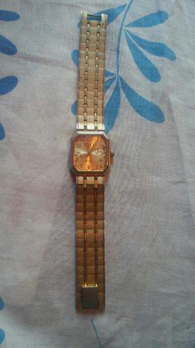 Yh Antiguo Reloj Q Y Q Dorado Metal Remato Cambio Operativo