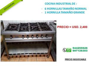 Cocina fornillon industrial de una hornilla posot class for Cocina 6 fuegos industrial