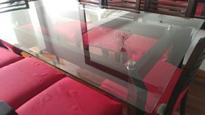 Vidrio para mesa 10mm elegante posot class for Juego de comedor de vidrio y madera