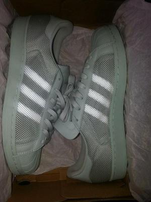 zapatillas adidas superstar triple white talla 10 nuevas en