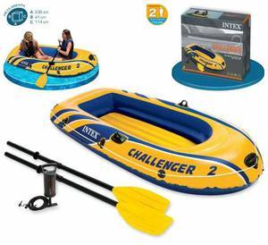 Bote Challenger 2 Intex Nuevo Con Remos Y Con Inflador