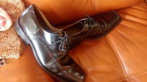 Zapatos Cuero Charol Hombre 43