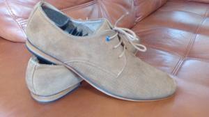 Zapatos De Cuero Hombre Gamuza 42