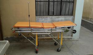 Camilla telescopica para ambulancia con porta suero y