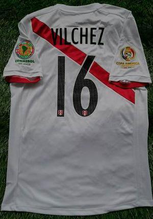 Camiseta Perú Copa America  Vilchez Usada En Juego