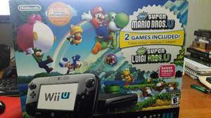 Wiiu + 6 Juegos + 2 Wii Remotes Y Nunchuks