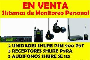 2 Sistema De Monitor Personal (in Ears Shure) Psm 900