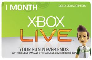 Membresia Xbox Live Gold 1 Mes Xbox One 360 Inmediata.!