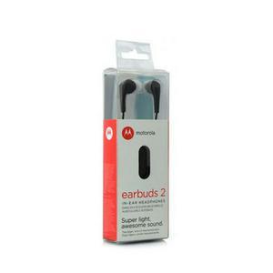 Audifono Handsfree Motorola Earbuds 2 In Ear Chupones Negro