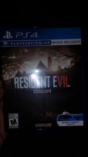 Vendo Videojuego Resident Evil 7 Ps4