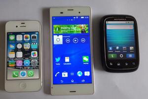 vendo celulares iphone, sony y motorola