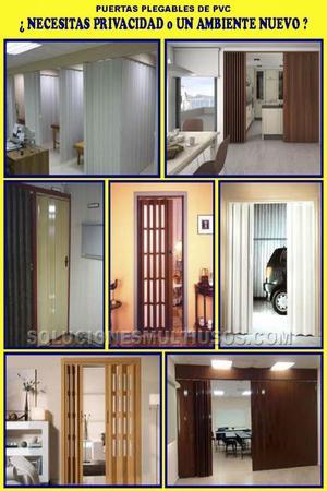 Puertas plegables de PVC oferta instalación gratuita