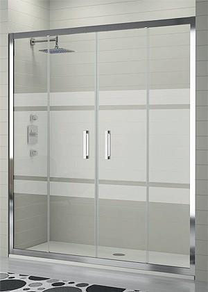 puertas de ducha en vidrio templado y acrilico