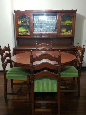 Juego de sala y comedor de cedro madera pura posot class for Comedor usado