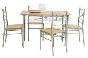 Juego de comedor redondo 4 sillas posot class for Comedor redondo 4 sillas