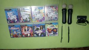 8 Juegos, Camara Y 2 Moves Ps3
