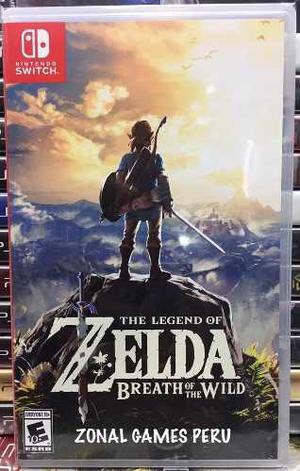 Zelda Breath Of The Wild Switch Disponible Envios -delivery