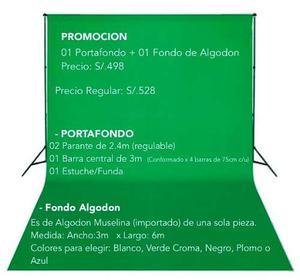 Portafondo Con Fondo De Algodon 3x6m Estudio Fotografico