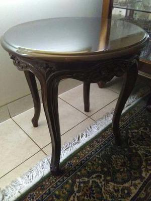 Mueble para sala de madera caoba posot class for Mesas de madera para sala