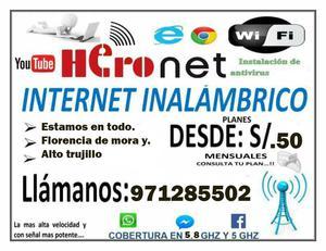 ponte internet inalambrico para los estudios s/. al mes