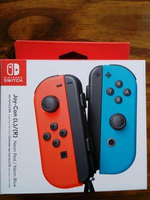 Joycon Nintendo switch color azul y rojo neón Sellado