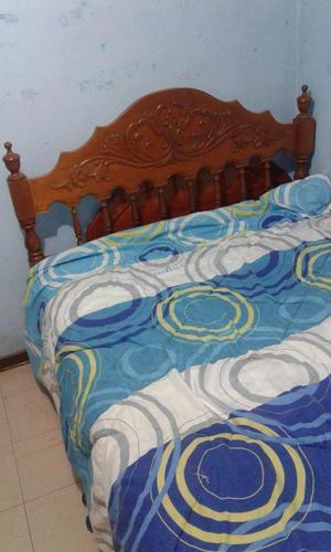 Vendo cama de 2 plazas con cabecera posot class for Cama para dos