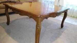 Linda mesa tallada en madera cedro de estilo posot class for Mesa para 10 personas