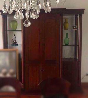 Mueble Bar De Caoba Modelo Biedermeier