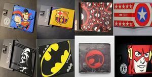 Billeteras de colección Comics historietas DC Marvel S/ 50