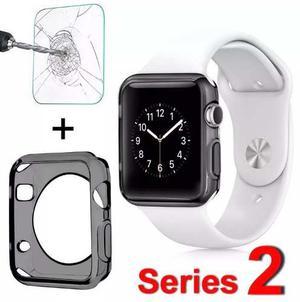 Apple Watch 2, Protector De Silicona Mas Vidrio