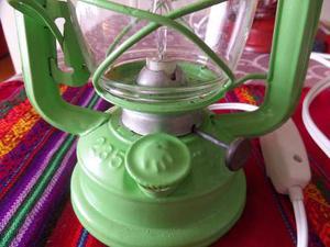 G25 Antigua Lampara De Kerosene Convertida A Electrica