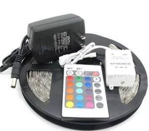 Tira Led Rgb + Control Remoto Kit Completo