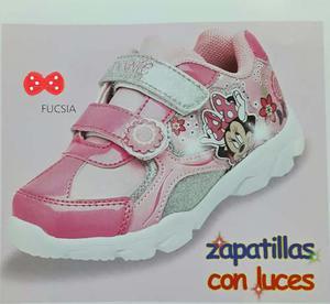 Minnie Mouse Zapatillas Con Luces Para Niñas - Zapatos.