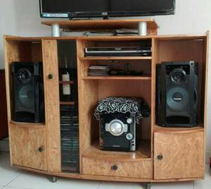 Mueble para tv dvd o blue ray equipo de sonido posot class - Muebles para equipos de musica ...