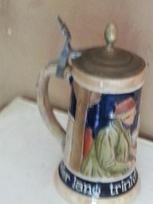 Anntiguo Vaso De Choop De Origen Aleman En Porcelana