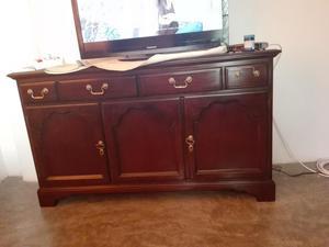 Mueble para televisor y ropero color caoba posot class - Mueble para comedor ...
