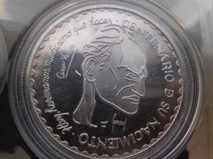 Moneda De Plata De Cesar Vallejo 1 Oz Onza