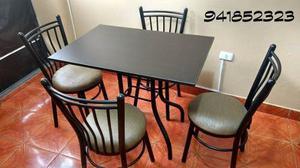 Mesa con 4 sillas para restaurant o jugueria s posot class for Sillas para jugueria