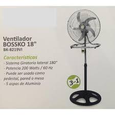 Ventiladores BOSSKO 3 en 1 de 5 aspas 200 Watts Potencia
