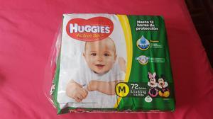 Pañales Huggies Active Sec M