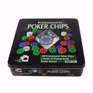 Set De Poker 100 Fichas 2 Mazos De Cartas Micromaster!!!