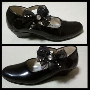 Zapatos Negros de Charol Niña Talla 25