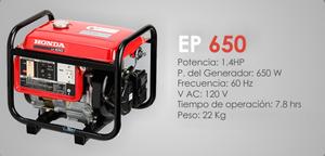 generador electrico honda ep650