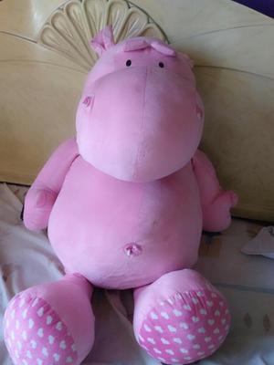 Peluche de Hipopotamo Rosado