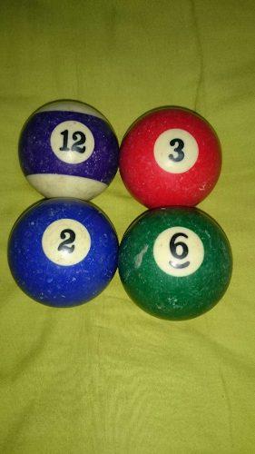 Remató Bolas De Billar Solo Numero 2,3,6 Y 12.