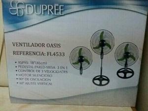 Ventilador Oasis 3 En 1