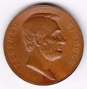 Antigua Medalla Americana - Presidente Abraham Lincoln
