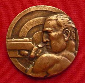 Antigua Medalla Concurso De Tiro Nacional Peru Armas Wyw