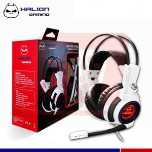 Audifonos Gamer Halion Gaming Con Microfono Y Luz Led