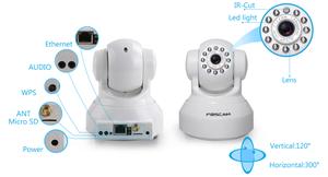 Camara IP FOSCAM FIP Wifi HD 1 MP Rotación